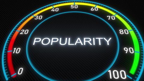 Popularity futuristic meter or indicator. Conceptual 3D rendering フォト