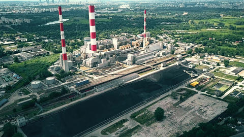 Power plant and coal storage GIF
