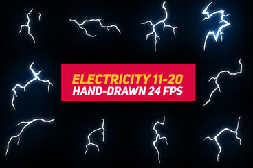 Liquid Elements 3 Electricity 11-20 After Effects Template