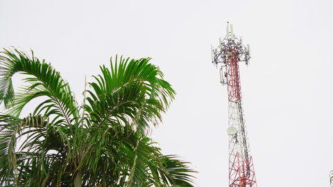 Telecommunication antenna of cellular communication of Internet and television ビデオ