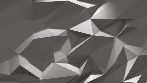 White abstract low poly triangle background with shadow GIF