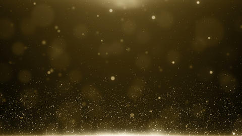 Particles gold bokeh glitter awards dust abstract background loop Animation
