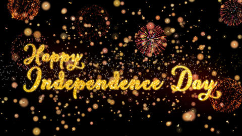Happy Independence Day Abstract particles and glitter... Stock Video Footage