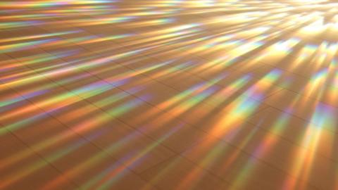 床を照らすスペクトル(ループ可能)-木目 CG動画
