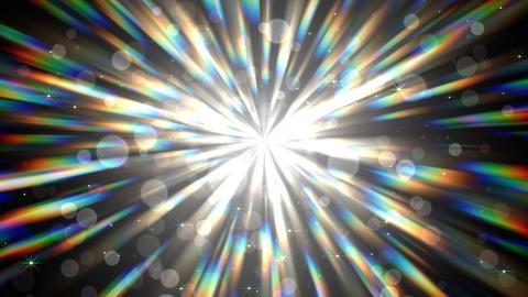 光のシャワー(ループ可能)-黒背景/放射状 CG動画