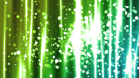 Green Particle Curtain Blends Animation
