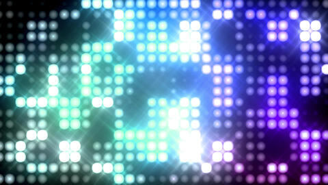 Club Blinking Stadium Lights Animation