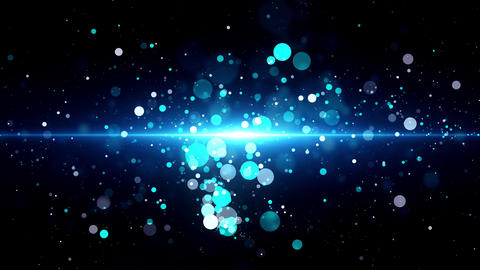 Abstract Light Particles Animation