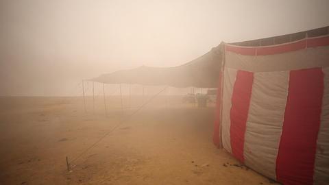 Desert Landscape in Rajasthan Footage