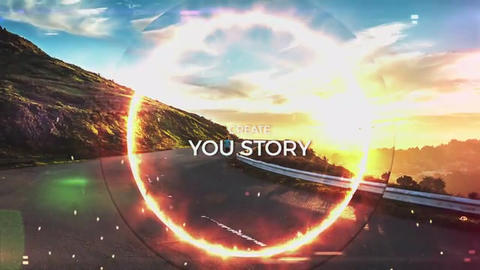 FIRE CIRCLE TRAILER SLIDESHOW After Effects Template
