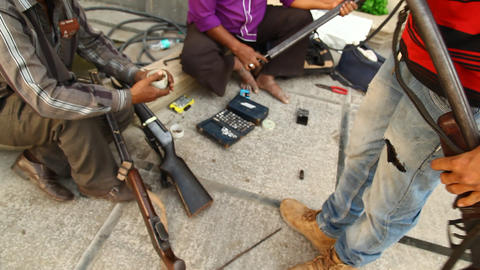 Guns with Mafia Stock Video Footage