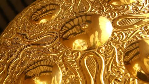 Gold jewellery Macro shot Footage