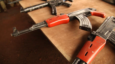 Guns close up Live Action