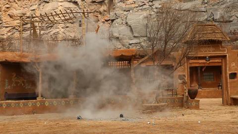 Bomb Blast at Rural village Footage