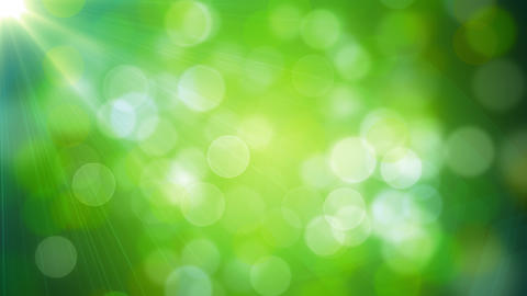 Green Colorful Lights Bokeh Animation