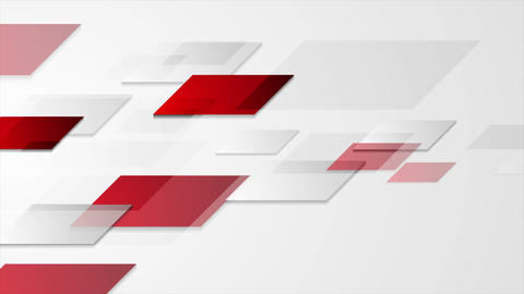 Red and grey abstract geometric video animation GIF