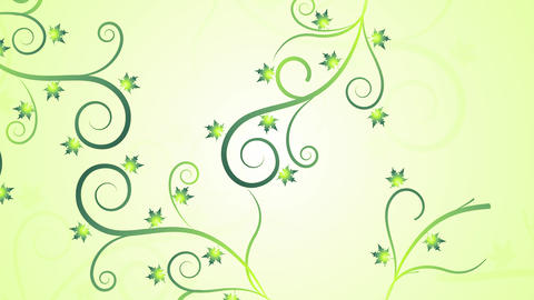 Soft Light Floral Fall Filigree Animation