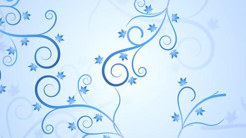 Floral Winter Filigree Animation