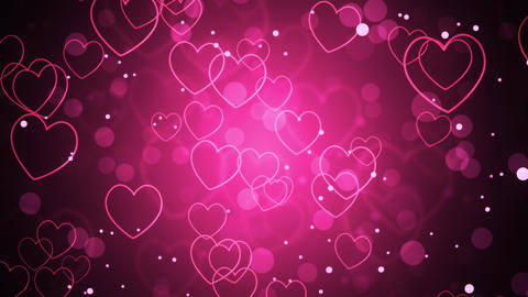 Pink Romantic Hearts Stock Video Footage