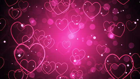 Pink Romantic Hearts Animation