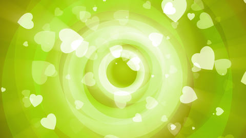 Green Valentine Circles Animation