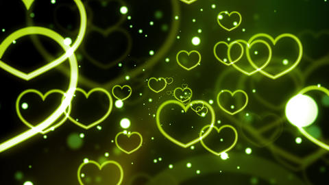 Green Loving Hearts Forever Animation