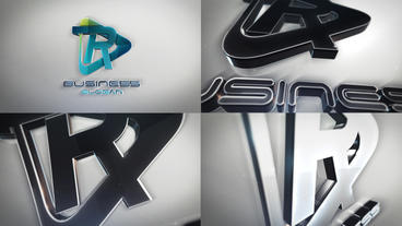 Clean And Simple 3D Extruded Logo Reveals After Effects Template
