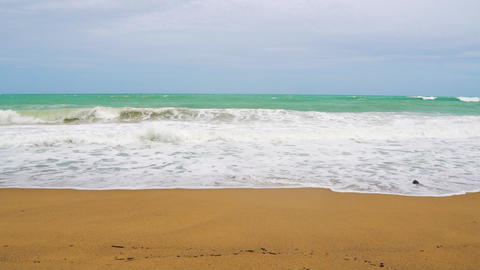sea waves on a tropical island, paradise vacation Footage