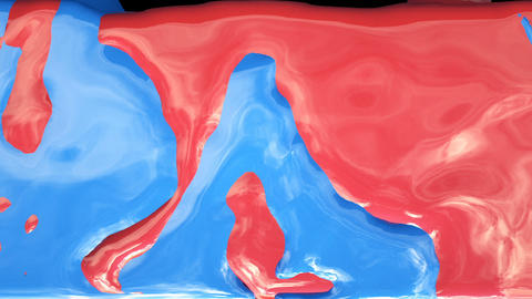 Color paint drops in slow motion. Cloud of paint collision isolated on black GIF