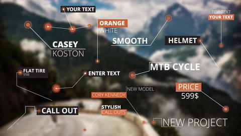 15 Call Out Titles モーショングラフィックステンプレート
