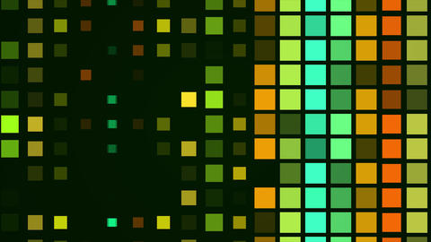 Colored squares flashed CG動画素材