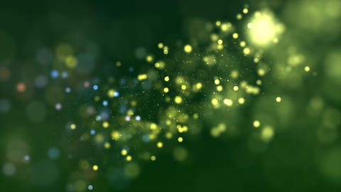 Dtream of particles on a green background CG動画素材