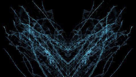 Abstract Motion - Digital Plexus Polygon Data Networks Alpha Matte Animation