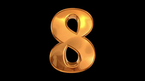 Golden 3DNumbers HD Animation