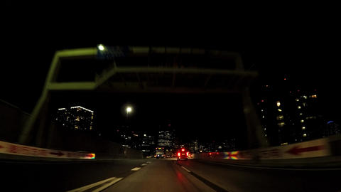 Japanese cityscape. A cap window of the night capital highway. Near Shibaura ビデオ