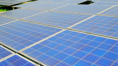 close up of solar panels Live影片