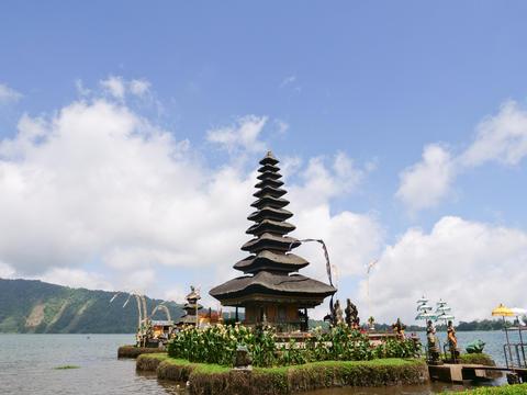 Hindu temple on the island of Bali. Pura Ulun Danu Bratan フォト