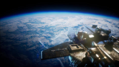 Space Shuttle above the Earth Footage