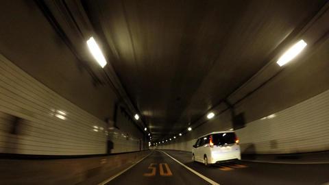 Japanese tunnel. Capital highway, Kasumigaseki tunnel Footage