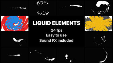 Liquid Elements And Transitions After Effectsテンプレート