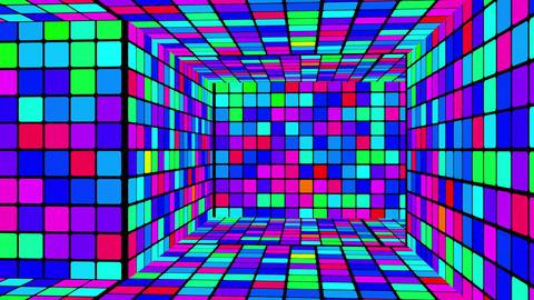 Retro Disco Lights Labyrinth 02 Stock Video Footage