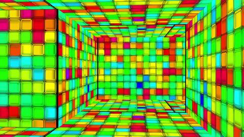 Retro Disco Lights Labyrinth 04 Stock Video Footage
