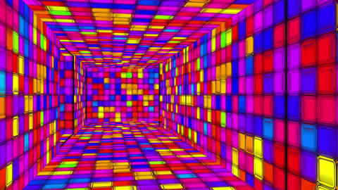 Retro Disco Lights Labyrinth 06 Animation