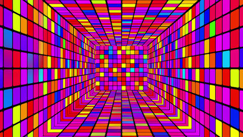 Retro Disco Tunnel 02 Animation