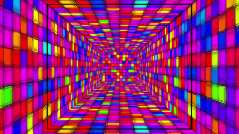 Retro Disco Tunnel 05 Stock Video Footage