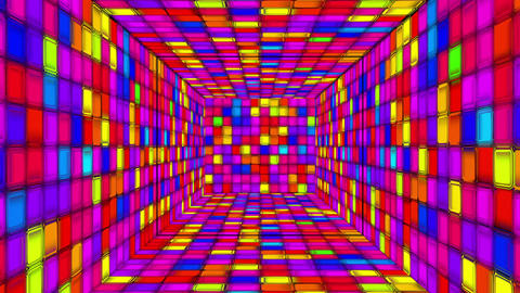 Retro Disco Tunnel 05 Animation