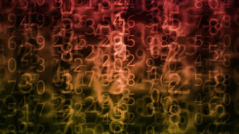 grunge numbers Animation