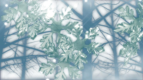 Crystal snow 1 A Stock Video Footage