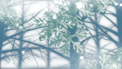 Crystal Snow 1 A stock footage