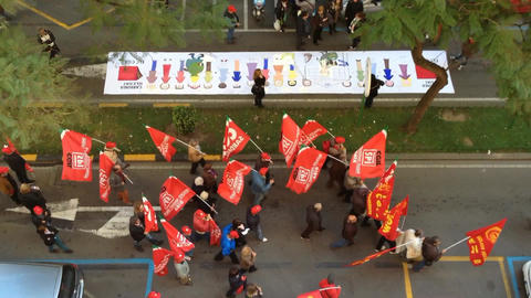 protest of the workers Footage